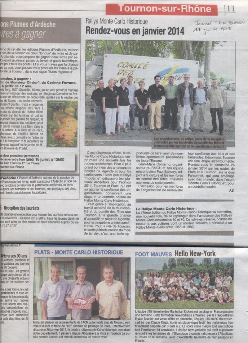 Journal Tain-Tournon juillet 2013