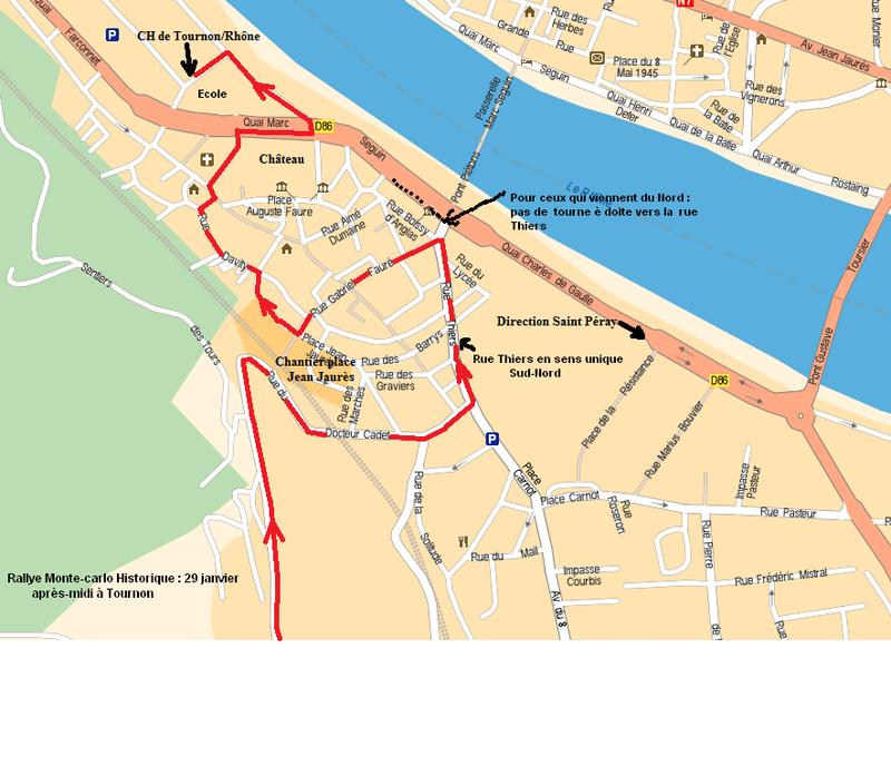 Plan d'accès CH Tournon France